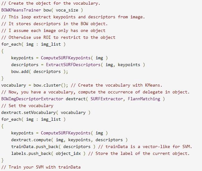 Bag of Words Models for visual categorization | Gil's CV blog