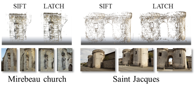 3D reconstruction results - comparing SIFT and LATCH